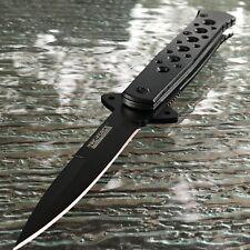 """7"""" TAC FORCE Black Spectrum STILETTO Spring Assisted Open Folding Pocket Knife"""