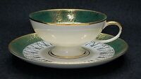 JKW Western Germany 1930 Flat Demitasse Cup & Saucer Set Courting Couple