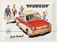 Trabant Gute Fahrt Grande Goffrato Segno Del Metallo 400mm x 300mm (Na) Ridotto