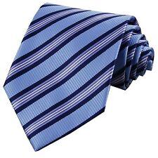 D.berite Blue Striped Silk Groom Jacquard Classic Woven Man's Tie Necktie F102