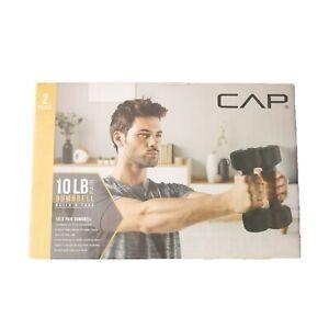 CAP 5 lb Pair Neoprene Hex Dumbbell Set 10 lbs Total Hand Free Weights Non Slip