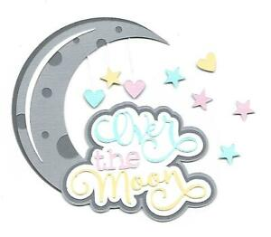 PREMADE-SCRAPBOOK PAPER PIECING-FOR LAYOUT-BABY GIRL-BABY BOY-OVER THE MOON