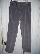 """NWT Larry Levine Dress Pants"""" Size 8 """"Color: Silver Fox"""" Stretch & Tailored Fit"""