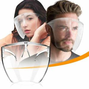 Clear Face Shield Face Mask Transparent Reusable Glasses Visor Anti-Fog US Full