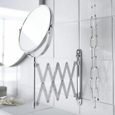 Extendable Wall-Mounted Folding Makeup Shaving Magnifying Chrome Bathroom Mirror