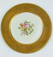 "Rare kotimsky & Tuchman flowery gold encrusted Vtg vintage 11"" inch dinner plate"
