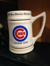 1984 East Division CHICAGO CUBS Baseball Champions BEER MUG Stein ROSTER BACK