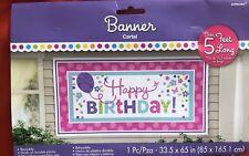 Happy Birthday! 33.5 inch X 65 inch Banner - 120172 Banner Cartel