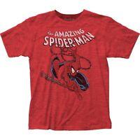 Authentic Marvel Comic The Amazing Spider-Man Spidey Swinging T-shirt S M L X 2X