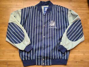 Vintage Mens Starter Georgetown Hoyas Pinstripe Jacket Size Medium
