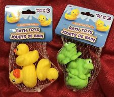 Rubber Duck Ducky & Frogs Froggy Baby Bath Tub Toy for Kids 6 Pcs Total