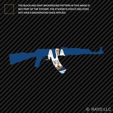 Louisiana State Shape AK-47 Sticker Decal AK47 Kalashnikov LA