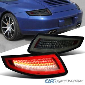 For 05-08 Porsche 911 997 GT3 GT2 Turbo Carrera Targa Smoke Lens LED Tail Lights