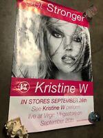 Get Stronger - Kristine W - Flier Poster Live At Virgin Megastore
