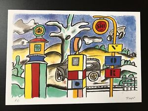 """Fernand Leger """"Paris Ma Ville"""" Special Print Signed in Pencil"""