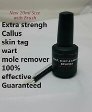 XTRA Strength Callus, Mole, Skin Tag, Wart Remover ( New stronger Solution) 20ml