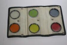 Foto Kamera Filter 55mm Konvolut Sammlung Farbfilter in B+W Ledertasche 4