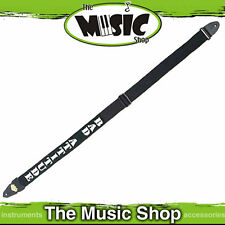 LM Bad Attitude Guitar Strap - 2 inch fully adjustable - Black & White - New