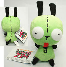 Alien Invader Zim Gir animal Robot DOG Plush mini figure green toy soft Xmas Toy