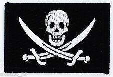 PATCH ECUSSON BRODE BRODERIE DRAPEAU PIRATE JACK RACKHAM NEUF THERMOCOLLANT