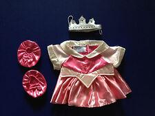 Build a Bear Clothing Pink Disney Sleeping Beauty Fairy Princess Dress Costume