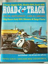 Road & Track Aug 1970 Jaguar XJ6, Honda 600, Saab 99E