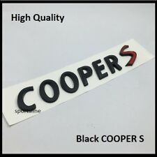 Black Cooper S Badge Emblem Decal Letters Sticker Mini Boot Tailgate Rear T36b