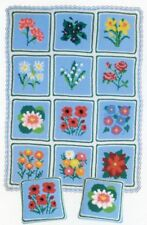 Flowers of the Month Set Afghan/Pillow Craft Designs for You Crochet PATTERN NEW