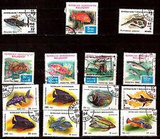 MADAGASCAR POISSONS- FISH  de mer  2 sèries +2T N° 647-652 et 1191-1198  28m482