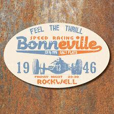 Bonneville Salt Flats Speed Racing Aged Worn Look Laminated Sticker 130x80mm