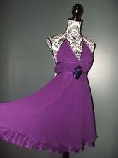 MISS SELFRIDGE ROBE DRESS SOIE SOIREE PAMPILLES T UK 6 OU 34