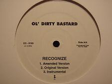 "OL' DIRTY BASTARD - RECOGNIZE (12"")  1999!!!  RARE!!!  CHRIS ROCK + NEPTUNES!!!"