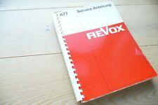 Manual de Servicio para Revox A77, Original