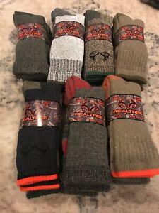 NWT Realtree Merino Wool All Season Socks Large Multi 2 Pairs Shoes 9-13
