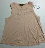 DKNY Women's Sleeveless Top Pink Size Large L
