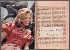 1960 Tv Guide Article~DIANE CANNON~ACTRESS~SOAP OPERA FOR BETTER OR WORSE~lakers