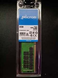 32GB 3200 (1x32GB) DDR4 Micron Server Memory PC4-25600 ECC RDIMM CAS 22 1.2V ''