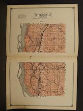 Wisconsin, Vernon County Map, 1915 Township of Bergen O2#58