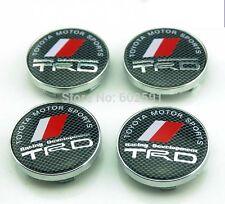 4 X de fibra de carbono sport coches rueda TRD centro tapas llantas de aleación 60mm Logo Emblema GB