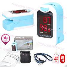 Pulse Oximeter Fingerpulsoximeter Oxymeter CE,TÜV SÜD geprüft blaue Farbe 50M