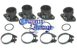 81-83 SUZUKI GS650 INTAKE SET INSULATOR 4 INTAKES CLAMPS O-RINGS 21-47010INBT