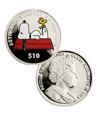 2015 $10 Proof Sterling Silver Snoopy - British V.I. 65th Anniversary of PEANUTS