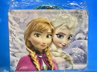 "Disney Frozen Tin Lunchbox- Ana & Elsa 3-D Embossed 8"" x 6""x 3""~Storage Box"
