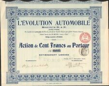 L'EVOLUTION AUTOMOBILE, Brevets D. & P. (U)