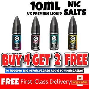 Riot Squad 10ml Nicotine Nic Salt Salts Vape juice E Liquid flavou 5mg 10mg 20mg