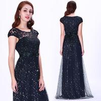 Ever-Pretty A Line Mesh Sequins Evening Dresses Long Formal Party Dress 07650