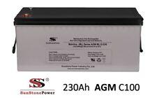 Solarbatterie 12V 230Ah AGM GEL USV Batterie Wohnmobil Boot Solar Batterie C100