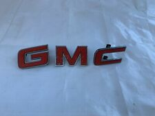 1984-1994 GMC Grill Emblem Grille Letters Red Metal Trim Pickup Truck Van