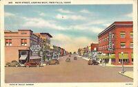 Twin Falls, IDAHO - Main Street - 1936 - Idaho Department Store, old cars