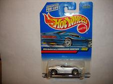 1999 Hot Wheels #1089 25th Anniversary Silver Lamborghini Countach 5 Dot/Hole